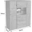 Vitrine Buffalo - Eichefarben, KONVENTIONELL, Glas/Holz (130/138/37cm)