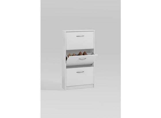 Botník Step 3 - biela, Moderný, kompozitné drevo (58,5/104,5/17cm)
