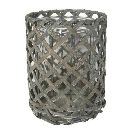 Svíčka Ve Skle Antonia - šedá, Romantický / Rustikální, dřevo/sklo (14,5/19cm) - Mömax modern living
