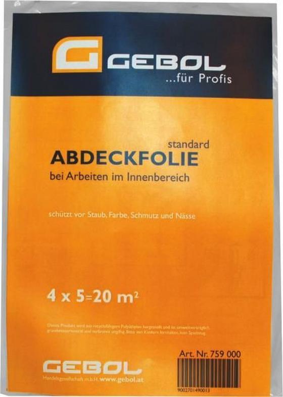 Abdeckplane 0,01 mm - Transparent, Kunststoff (400/500cm) - Gebol