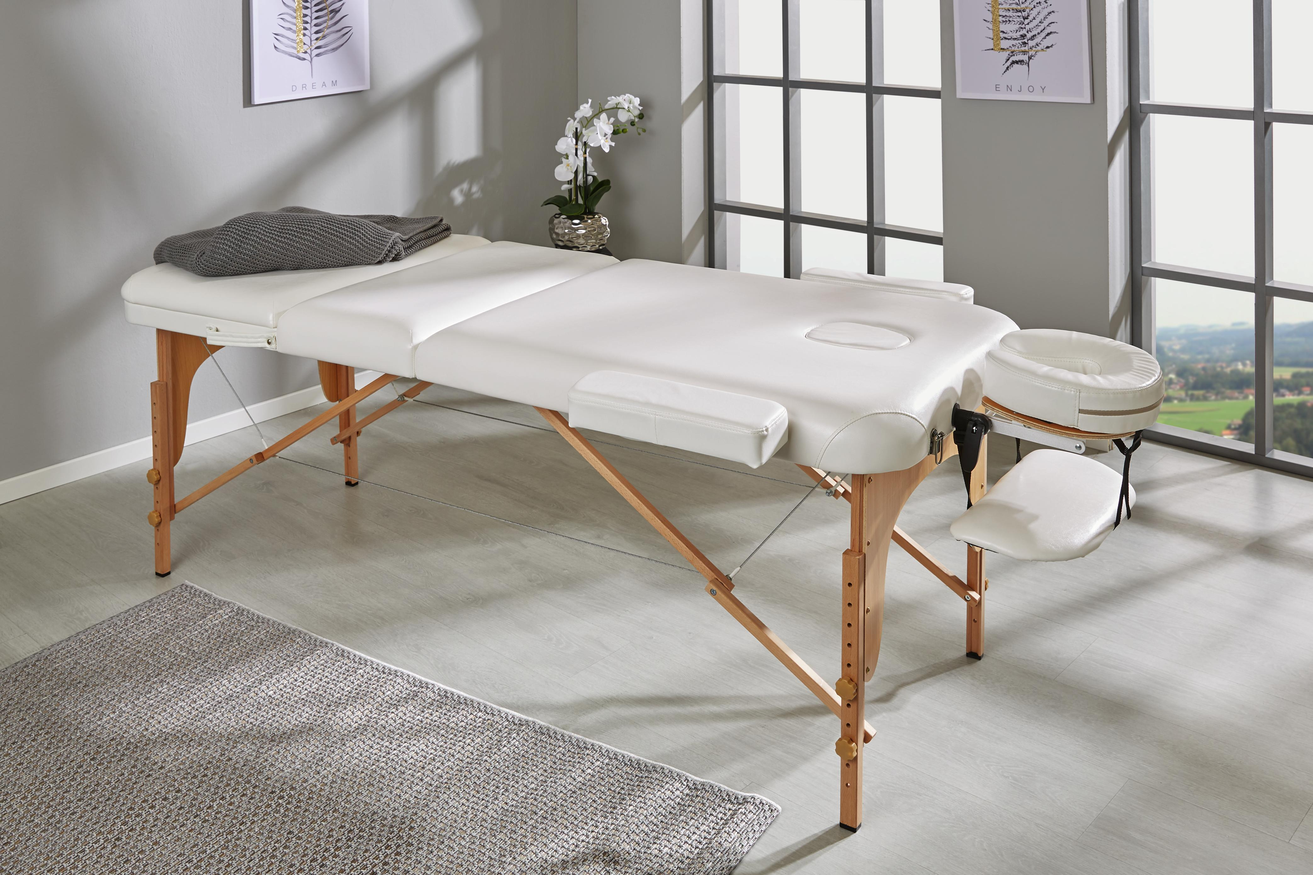 Massageliege mit Holzgestell