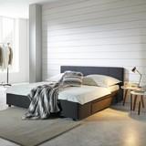 Postel Maila - antracitová, Moderní, dřevo/textil (188/85/211,50cm) - Mömax modern living