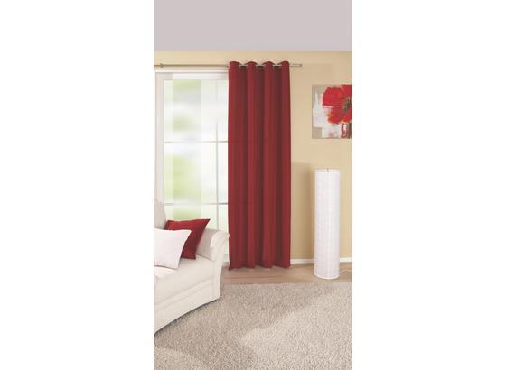 Készfüggöny Ocean - Piros, konvencionális, Textil (140/245cm)