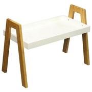Beistelltisch Scandi - Naturfarben/Weiß, MODERN, Holz/Holzwerkstoff (62,5/45/32cm) - Ombra
