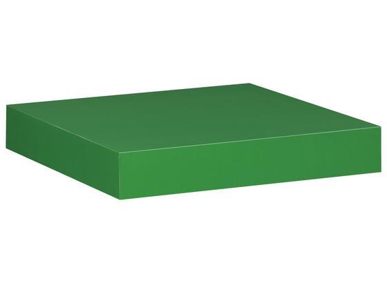 Nástenná Polica Simple - zelená, Moderný, umelá hmota/kompozitné drevo (23,5/3,8/23,5cm)
