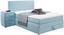 Boxspringbett Allegra 120x200 Pastellblau - Schwarz/Weiß, KONVENTIONELL, Holz/Holzwerkstoff (120/200cm)