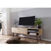 Lowboard Sikar B: 145 cm - Goldfarben/Braun, Design, Holz (145/47/35cm) - Carryhome