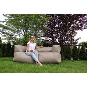 Outdoorsitzsack Lounge Sofa 185 cm Taupe - Taupe, KONVENTIONELL, Textil (185/60/85cm)