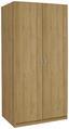 Drehtürenschrank Karo, 2trg - Eichefarben, KONVENTIONELL, Holz/Holzwerkstoff (91/197/54cm)