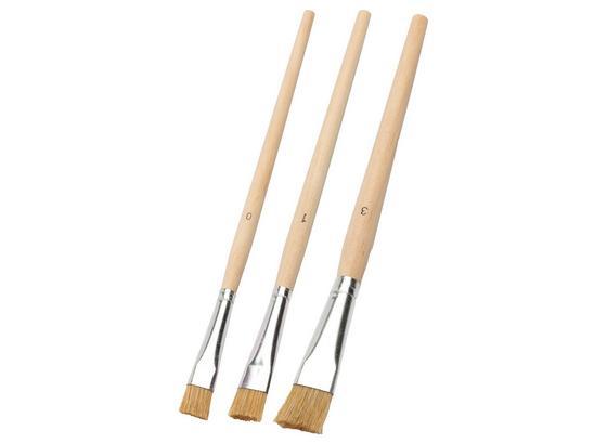 Pinselset 3-teilig - KONVENTIONELL, Naturmaterialien/Holz (9;9.5;10cm) - Gebol