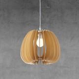 Závesná Lampa Simona - prírodné farby/béžová, Moderný, drevo (37cm) - Modern Living