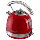 Wasserkocher Sl W2 Fr Rot 1,7l 1850-2200 W - Chromfarben/Rot, MODERN, Metall (19,8/27,3/23,7cm) - Schneider