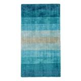 Teppich Bianca - Türkis, Textil (70/140cm) - James Wood