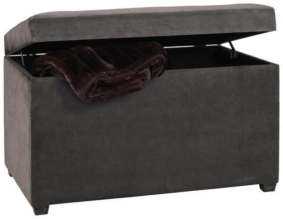 Truhenbank Relax 65cm Grau - Grau, KONVENTIONELL, Holzwerkstoff/Textil (65/42/40cm)