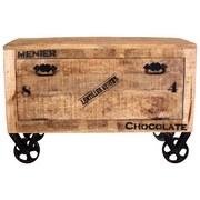 Schuhschrank Brion B: 85 cm Mangoholz - Schwarz/Naturfarben, Basics, Holz (85/56/40cm) - MID.YOU
