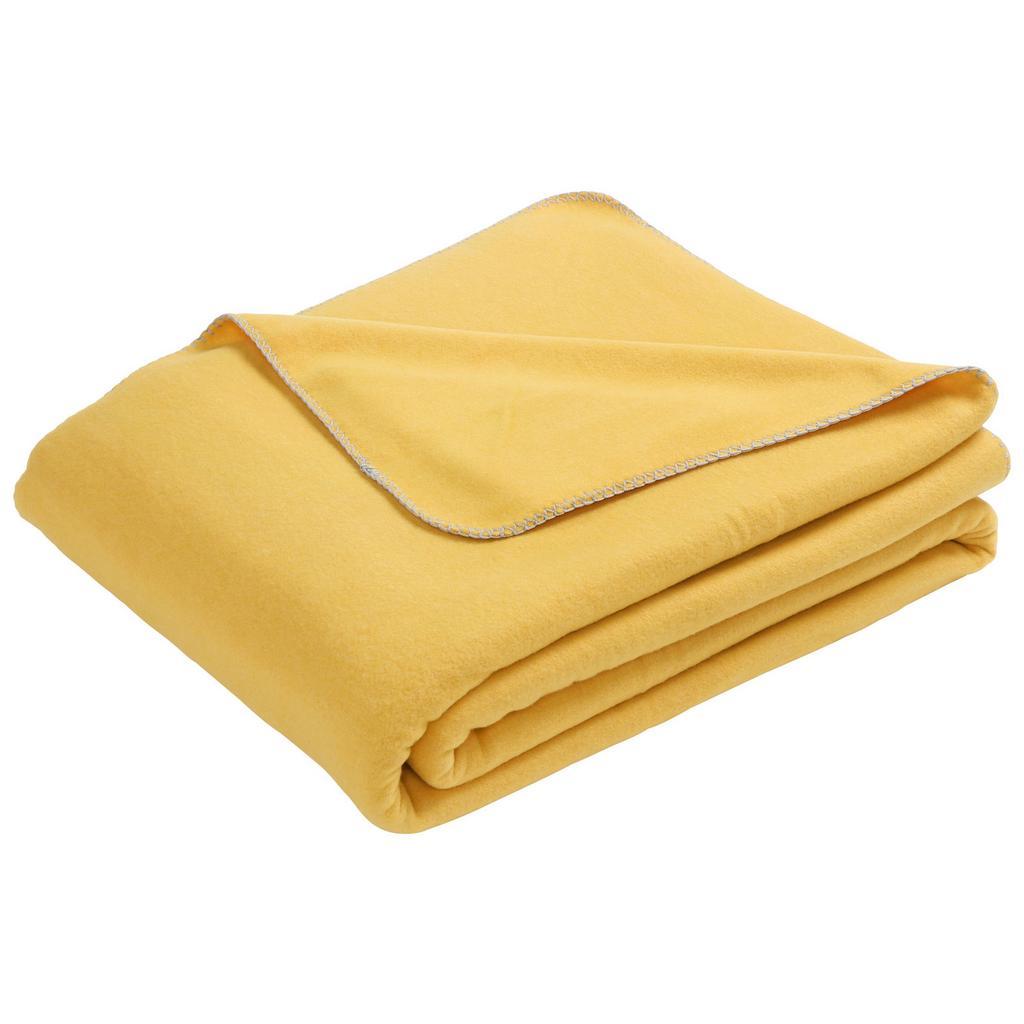 Měkká Deka Fay, 150/200cm, Žlutá