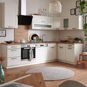 Küchenkombination Luisa - Weiß, MODERN, Holzwerkstoff (220/160cm)