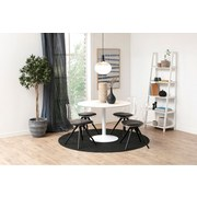 Esstisch Ibiza B: 110 cm Weiß - Weiß, Design, Holzwerkstoff/Metall (110/110/76cm) - MID.YOU