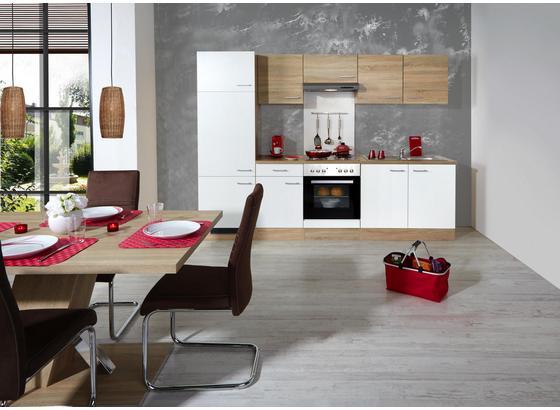 Küchenblock Samoa 270 Cm Weiß Sonoma Eiche Eichefarben Konventionell Holzwerkstoff