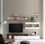 Obývacia Stena New Vision 3 - farby dubu/biela, Moderný, kompozitné drevo (265/190/42cm)