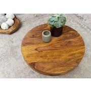 Couchtisch Rund Echtholz mit Sockelfuß Sheeshamfarben - Sheeshamfarben, MODERN, Holz (60/60/30cm) - Livetastic