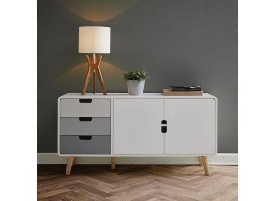 Komoda Daniela - sivá/biela, Moderný, drevo (120/60/35cm) - Modern Living