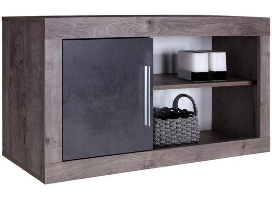 Závěsný Díl Frame - bílá/tmavě šedá, Konvenční, kompozitní dřevo (122/55/30cm)