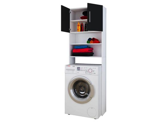 Waschmaschinenverbau Jutas B: 64 cm - Schwarz/Weiß, Basics, Holzwerkstoff (64/190/25cm)