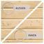 Bio-Saunahaus Dijon mit externe Steuerung - Naturfarben, MODERN, Holz (196/228/196cm) - Karibu