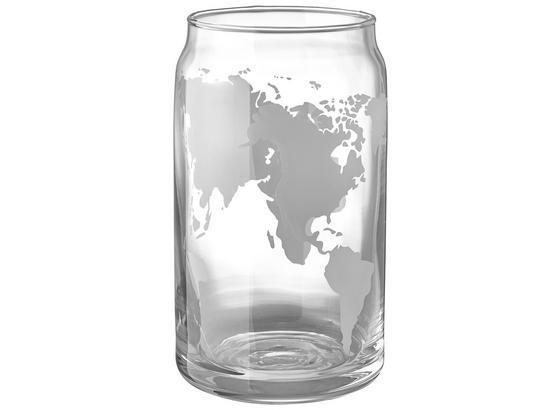 Sklenička World - bílá/průhledné, Moderní, sklo (7,5/13,2cm) - Mömax modern living