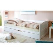 Ausziehbett Melinda 90x200 cm Weiß - Weiß, Natur, Holz (90/200cm) - Carryhome