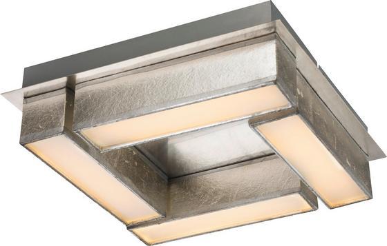 LED-Deckenleuchte Amy I - Silberfarben, MODERN, Kunststoff/Textil (30/30/8,5cm)