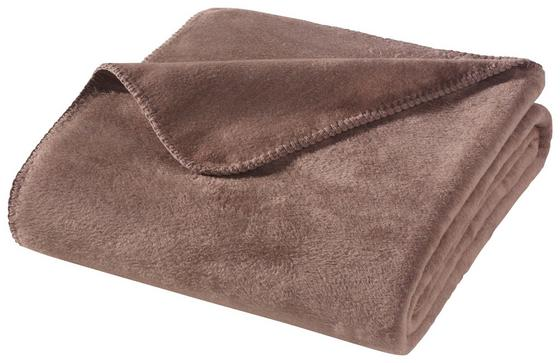 Wohndecke Hani 150x200 cm - Hellbraun, MODERN, Textil (150/200cm)