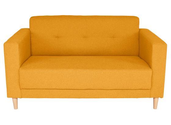 Zweisitzer-Sofa Geneve - Gelb/Naturfarben, MODERN, Textil (148/81/75cm)