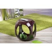 Beistelltisch In Runder Kubusform Nono, Lila Glänzend - Lila, Design, Kunststoff (40/40/42cm) - Livetastic