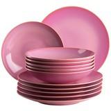 Tafelservice Ossia 12-Tlg - Pink, Basics, Keramik (32/32/30cm)