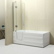 Badewanne Haiti mit Türe Links - Weiß, MODERN, Kunststoff (170/76/61cm)