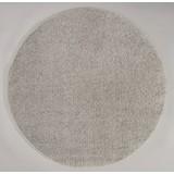Hochflorteppich Nobel Micro  120 Rund - Silberfarben, MODERN, Textil (120cm)