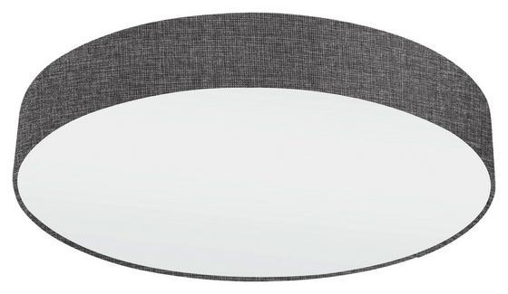 Deckenleuchte Pasteri - Weiß/Grau, MODERN, Textil/Metall (57/15cm)