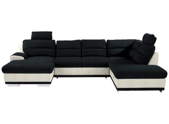 Sedacia Súprava Seaside - čierna/biela, Konvenčný, textil (165/334/218cm) - Luca Bessoni