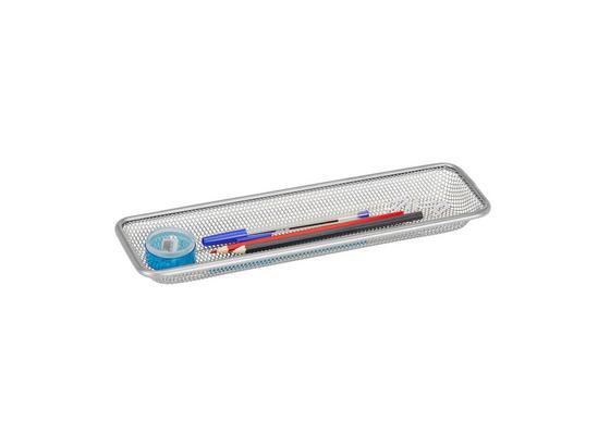 Držiak Na Ceruzky Mesh 687011 - strieborná, kov (31/9,5/3cm) - Homezone