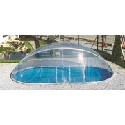 Pooldach Cabrio Dom - Transparent, Basics, Kunststoff (370/730cm)