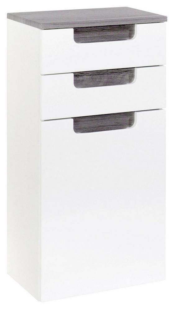 Unterschrank Siena 40cm Weiß/eiche - Eichefarben/Weiß, MODERN, Holzwerkstoff (40/79/27cm)