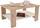Couchtisch San Remo Dekor Paolo mit Ablagefach in Weiß - Eichefarben/Weiß, MODERN, Holzwerkstoff (90/41/55cm)