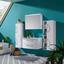 Waschbecken mit Unterschrank + Soft-Close Inn, B: 90cm Weiß - Weiß, MODERN, Keramik/Holzwerkstoff (90/50/50cm)