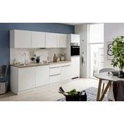 Küchenblock Venedig 1042.6249 B300cm - Eichefarben/Weiß, Design, Holzwerkstoff (300cm) - MID.YOU