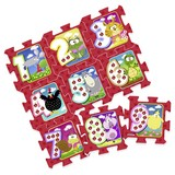 Bodenpuzzle mit Zahlen 9-teilig - Multicolor, MODERN, Kunststoff (93/93/1cm)
