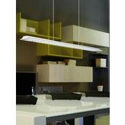 LED-hängeleuchte Paramo - Chromfarben/Weiß, MODERN, Glas/Metall (70/7/110cm)