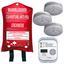 Brandschutzset 5-Teilig - Rot/Weiß, MODERN, Kunststoff/Metall