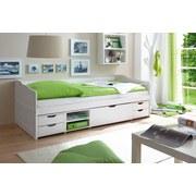 Stauraumbett Marlies 90x200 cm Weiß - Weiß, MODERN, Holz (90/200cm) - Livetastic